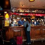 Check in at the Mr. Pickwick Pub bar