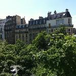 View from our room at Raspail Montparnasse hotel
