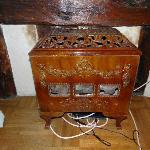 Ancien poêle (décoratif) dans une des chambres