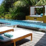 our beach villa with pool