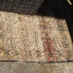 Lounge area's old rug... Not 4 star quality at all