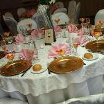 A table setting at my wedding