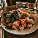 Seafood platter, with Clew Bay Mussels, Lobster, Shrimp