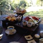 Delicious breakfast tray at Marataba