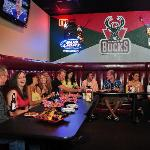 Bring your large group down to our SportZone, one booth fits all!