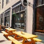 View from Locust Street - Outdoor seating
