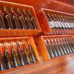 Wine bottles by the entryway
