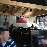 Rustic Modern, the Black Oak Grill is great!