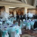 Our reception in the Palm Foyer, done by Mandalay Bay Catering
