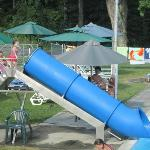 pool slide - view from the pool motel