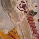 ギターのケーキがキュート