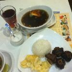 medium grilled oxtail soup & hot tea