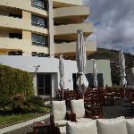 hotel from garden deck