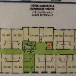 Campanile Bordeaux Centre : Plan des chambres du 3ème etage