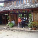 Rosey and her mother at their Country Rd Cafe, Baisha