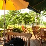 Outside dining area- restaurant Tara