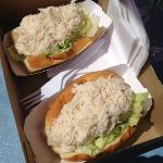 """Crab Roll at """"the BOX"""" over flowing with crab meat"""