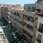 Street from breakfast balcony