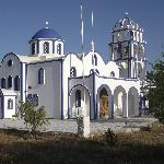 church behind resort