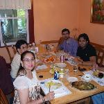 Having dinner...