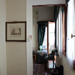 The rather narrow entrance to the room