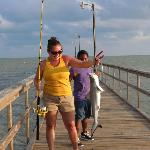 Black Tip Shark caught on the pier at Goose Island SP