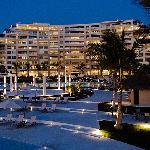 The resort by night.