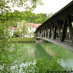 The foot bridge from old town Wolfratshausen to the new part of town.