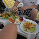 Comida del restaurante de la boheme en la pileta