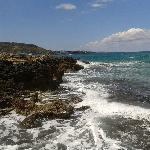 Stalis promenade from rocks