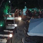 Bar from balcony in evening