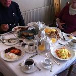 Full Irish Breakfast or scrambled eggs with locally smoked salma=on
