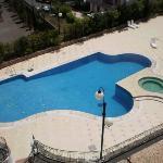 piscina dalla stanza