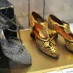 Magnificently decorated 1920s shoes.