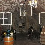 In the basement where they do wine tasting