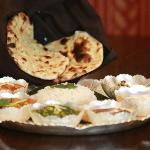 Extraordinary North Indian Thali and Garlic Naans