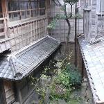 Inside of the ryokan/garden