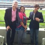 With the 'acclaimed' David at Melbourne's famed MCG stadium