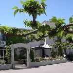 Parking de l'hotel COSTA VERDE à Moriani plage en Corse