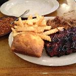 Pulled Pork & Ribs - with beans & cornbread