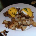 Eggs Benedict at Farm Haus Bistro