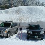 parking at the ski resort