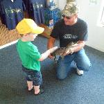 A chance to hold an alligator