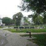 Patterson Park fountain 2 blocks from B&B