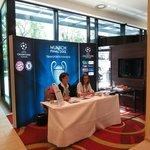 UEFA delegates help and transportation desk