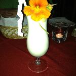 Tropical drink.  I believe I ate the flower too.