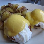 Eggs Benedict ...apparently light on home fries