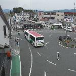 御殿場駅乙女口/アウトレットのバスが来ました。