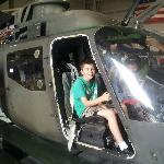 My son in the OH-58A Kiowa.  The control yokes work!