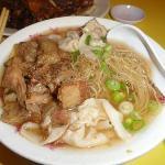 Beef Tendon Won Ton Noodle Soup